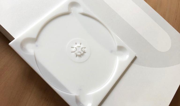 Milchig weiße Bio CD-Aufnahme