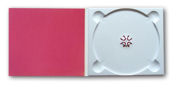 Weiße CD-Aufnahme